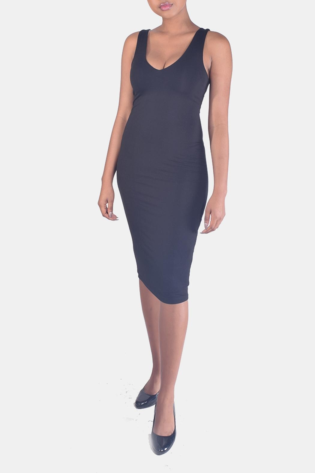 Final Touch V-Neck Bodycon Dress - Main Image
