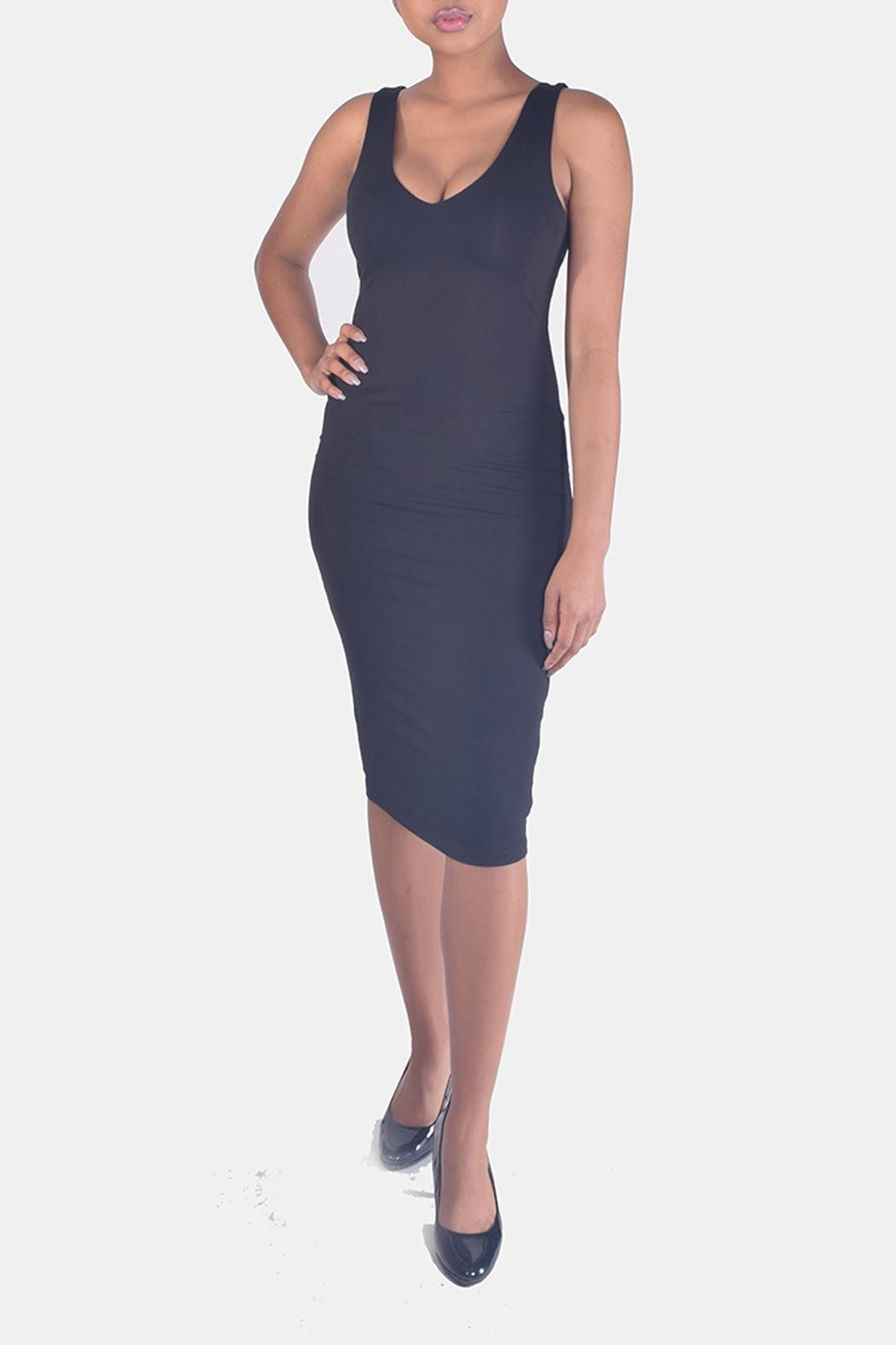 Final Touch V-Neck Bodycon Dress - Side Cropped Image