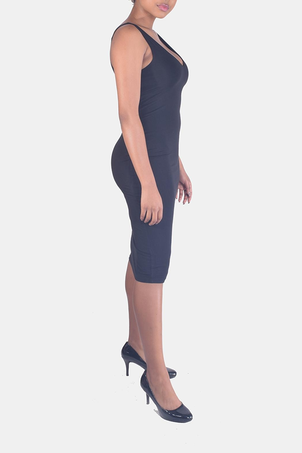 Final Touch V-Neck Bodycon Dress - Back Cropped Image