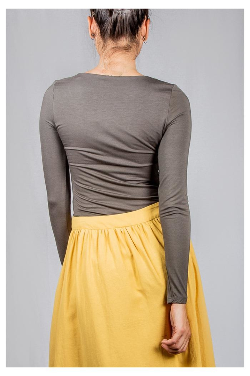 Final Touch V-Neck Double-Layer Top - Back Cropped Image