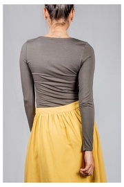 Final Touch V-Neck Double-Layer Top - Back cropped