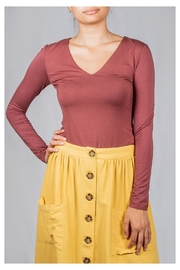 Final Touch V-Neck Double-Layer Top - Front cropped