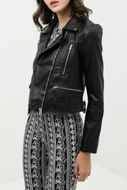 Final Touch Vegan-Leather Moto Jacket - Product Mini Image