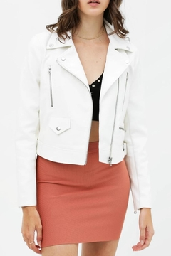 Final Touch Vegan-Leather Moto Jacket - Product List Image