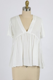 Final Touch Vneck Flowy Short Sleeve - Product Mini Image
