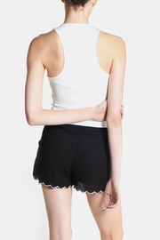 Final Touch White High Neck Top - Back cropped