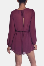 Final Touch Wine Chiffon Romper - Back cropped