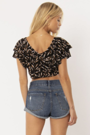 AMUSE SOCIETY Find Your Light Crop Top - Front full body
