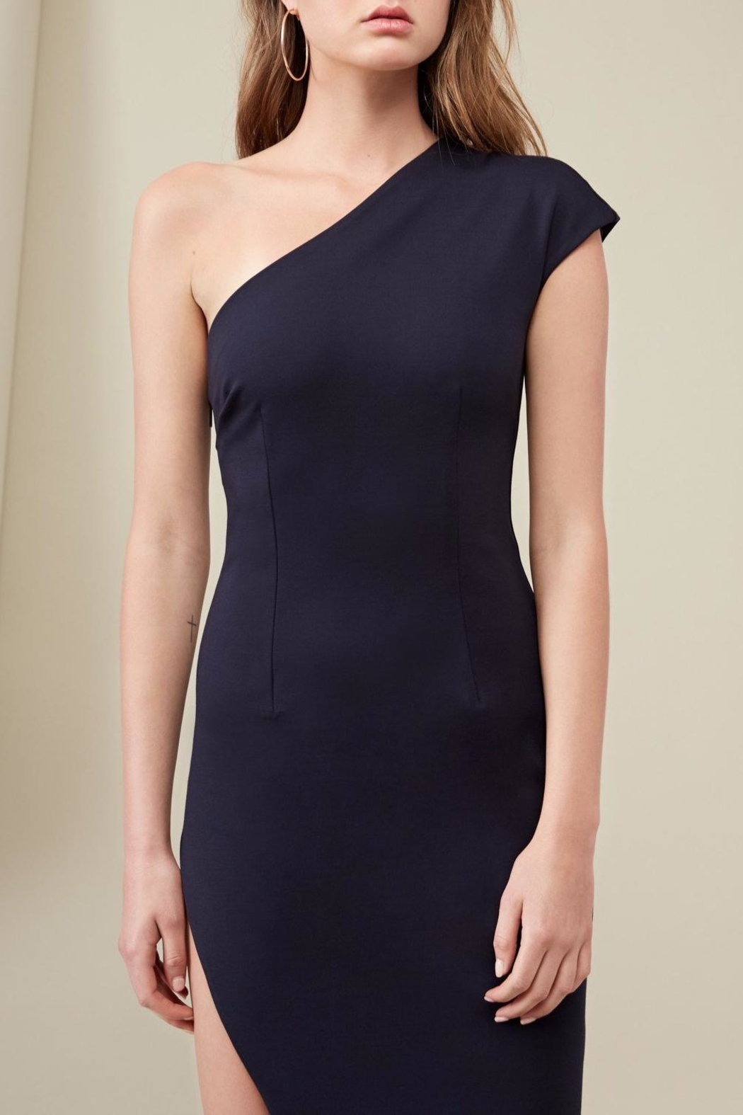 FINDERS Diagonal Dress Navy - Front Full Image