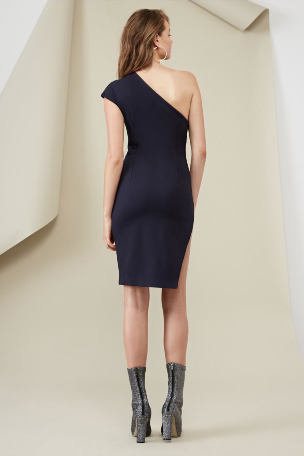 FINDERS Diagonal Dress Navy - Side Cropped Image
