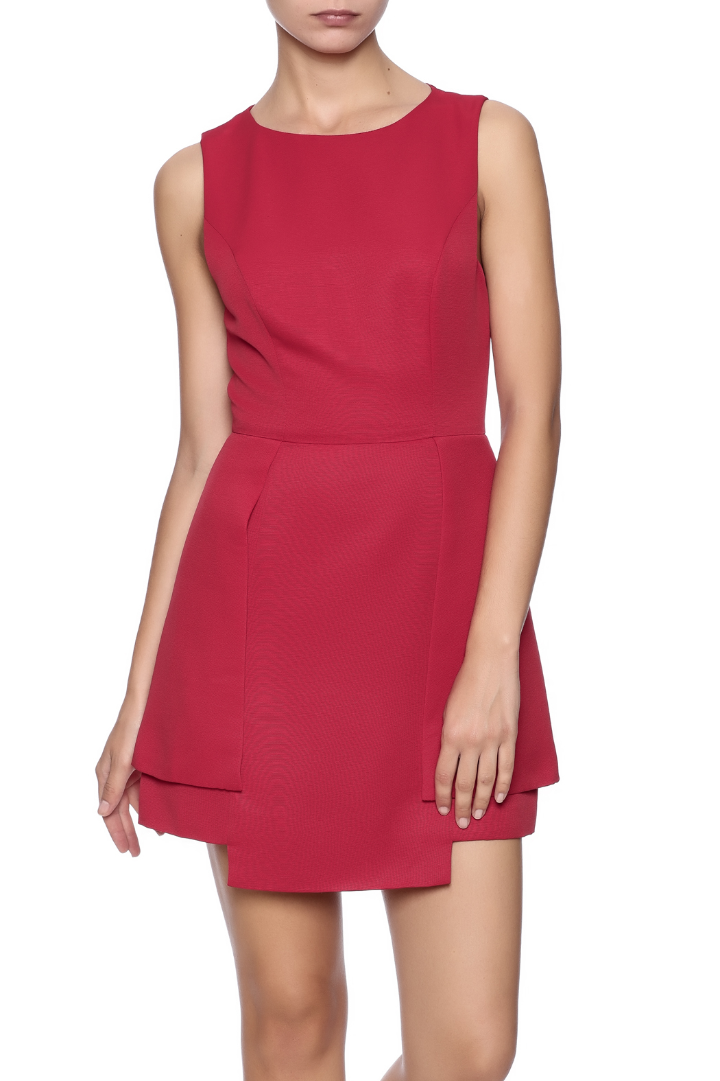 finders keepers red frame dress front cropped image