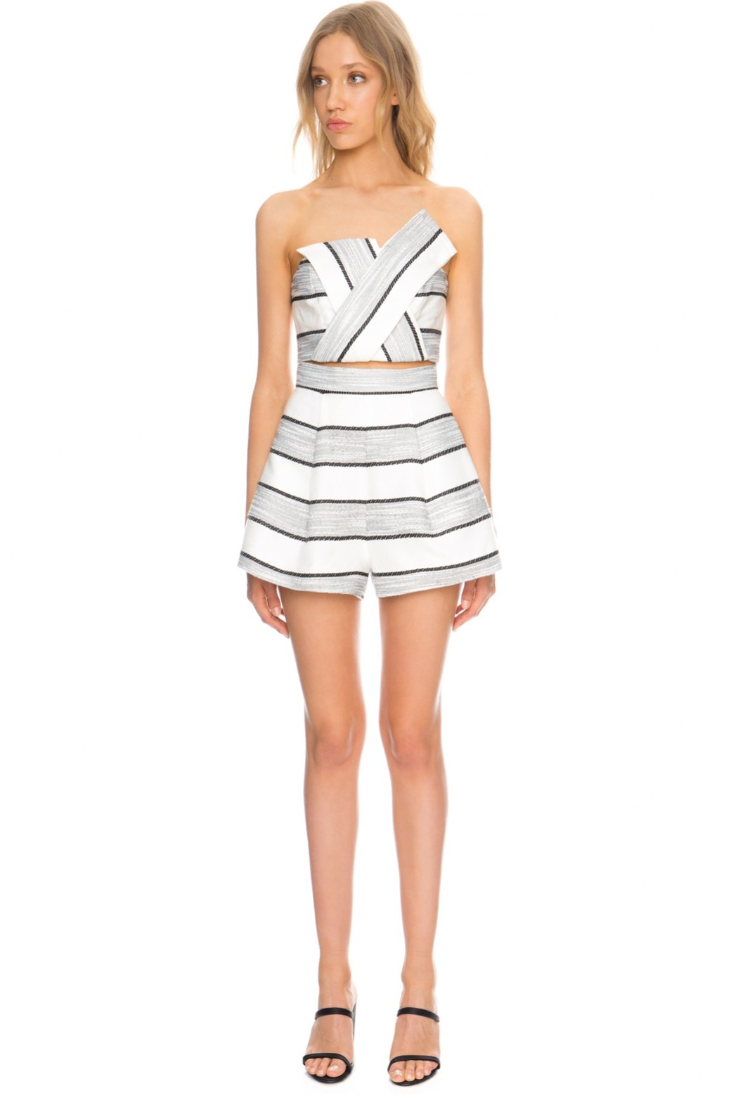 Finders keepers dress white and black