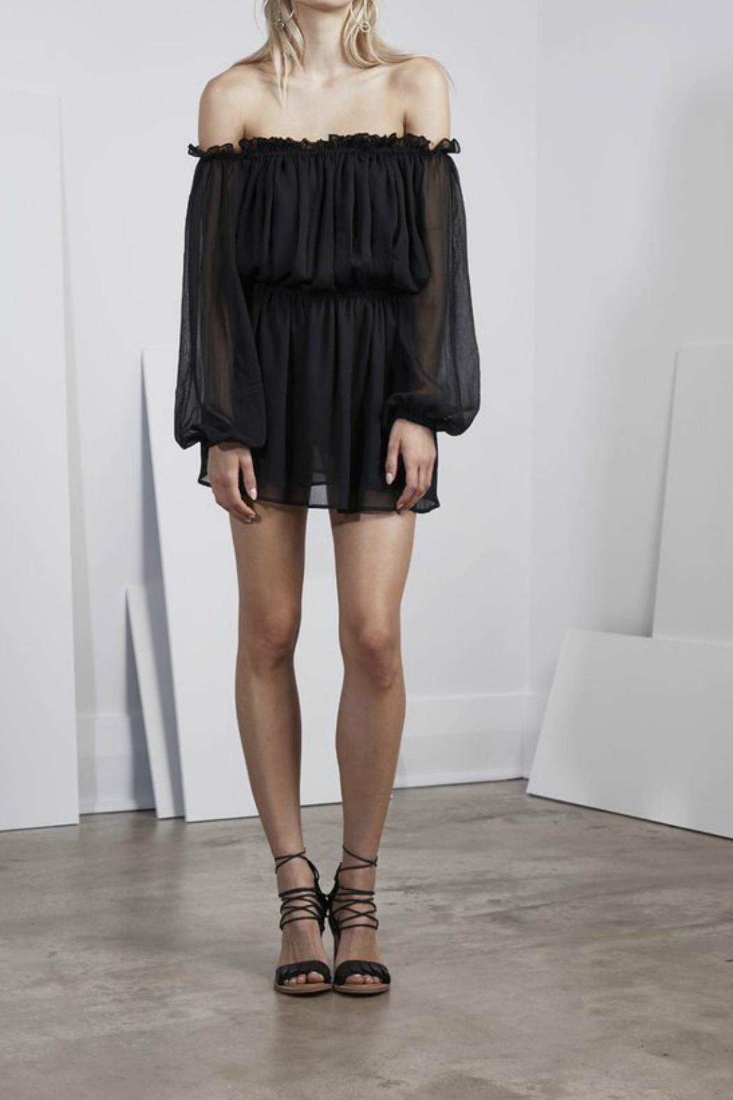 Finders Keepers Mateo Off Shoulder Dress - Front Cropped Image