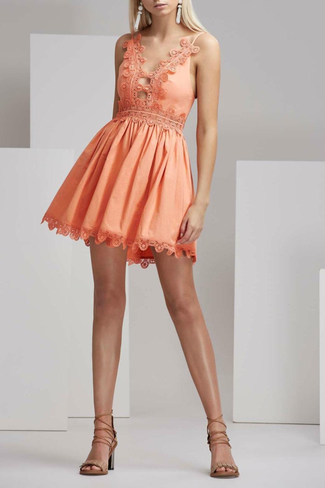 Finders Keepers Odelle Dress Apricot - Main Image