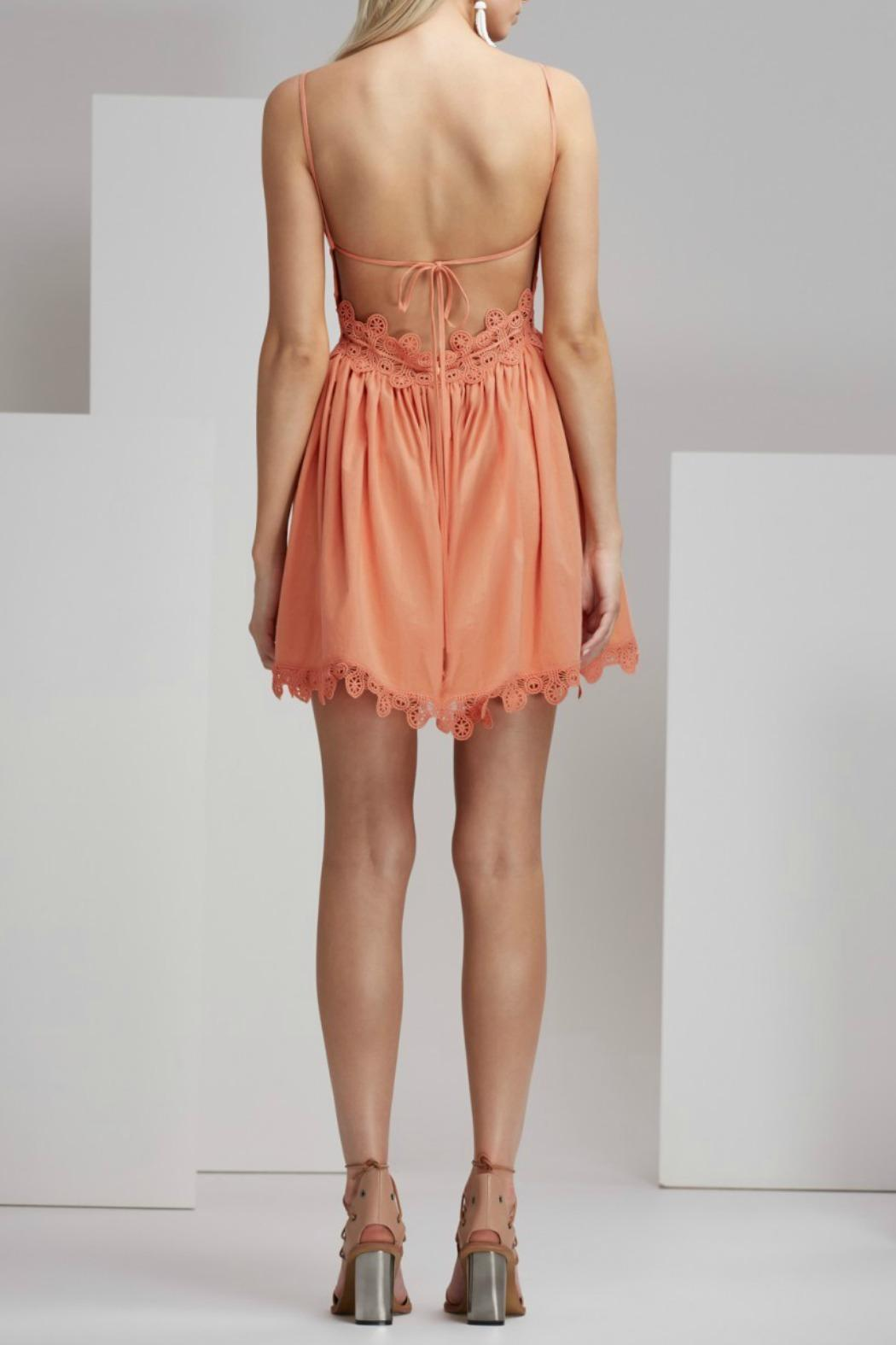Finders Keepers Odelle Dress Apricot - Front Full Image