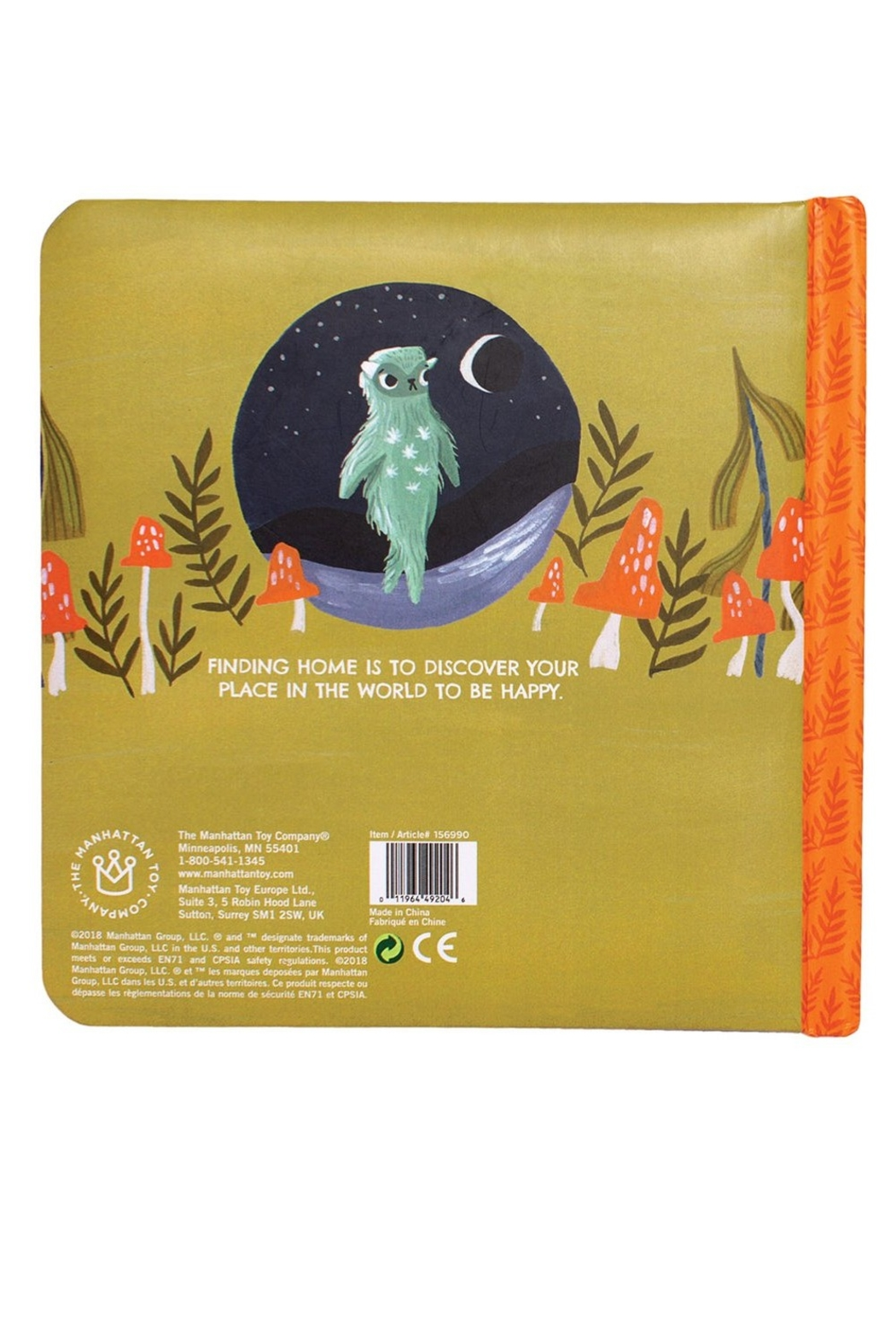 Manhattan Toy Company Finding Home A Little Monster's Tale Board Book - Front Full Image