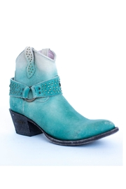 Miss Macie Boots Fine-N-Dandy Turquoise Bootie - Front full body