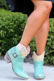Miss Macie Boots Fine-N-Dandy Turquoise Bootie - Front cropped