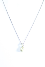 The Birds Nest FINE SILVER NECKLACE W/ 22K GOLD PENDANT - 8 INCH CHAIN - Product Mini Image