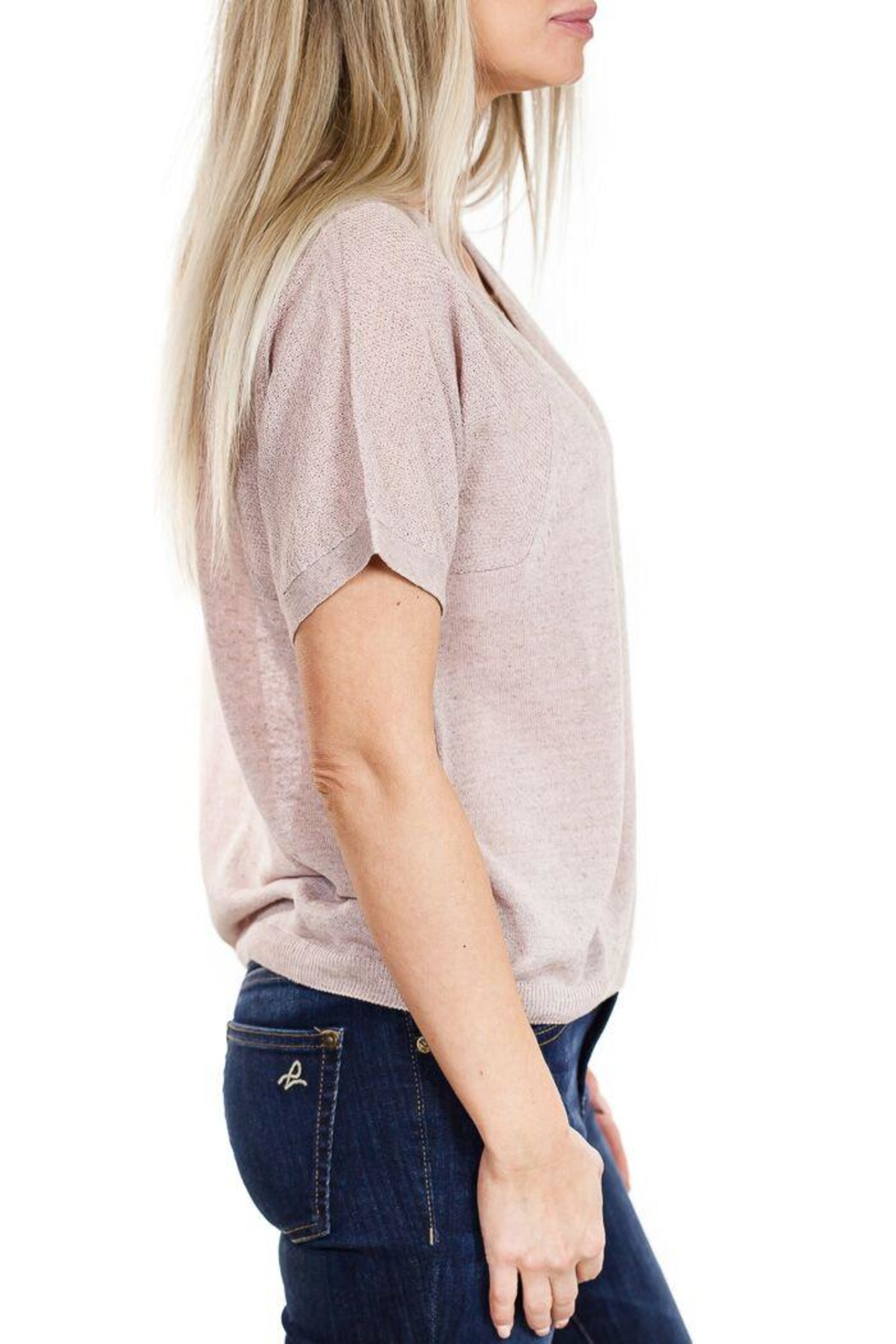 Fine Collection V Neck Sweater - Front Full Image