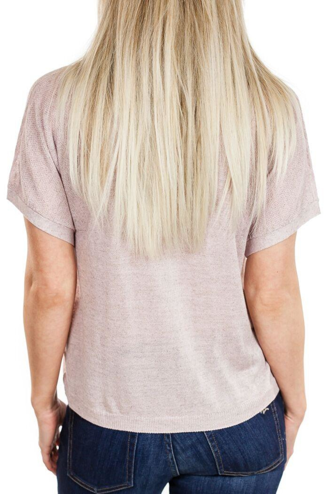 Fine Collection V Neck Sweater - Side Cropped Image
