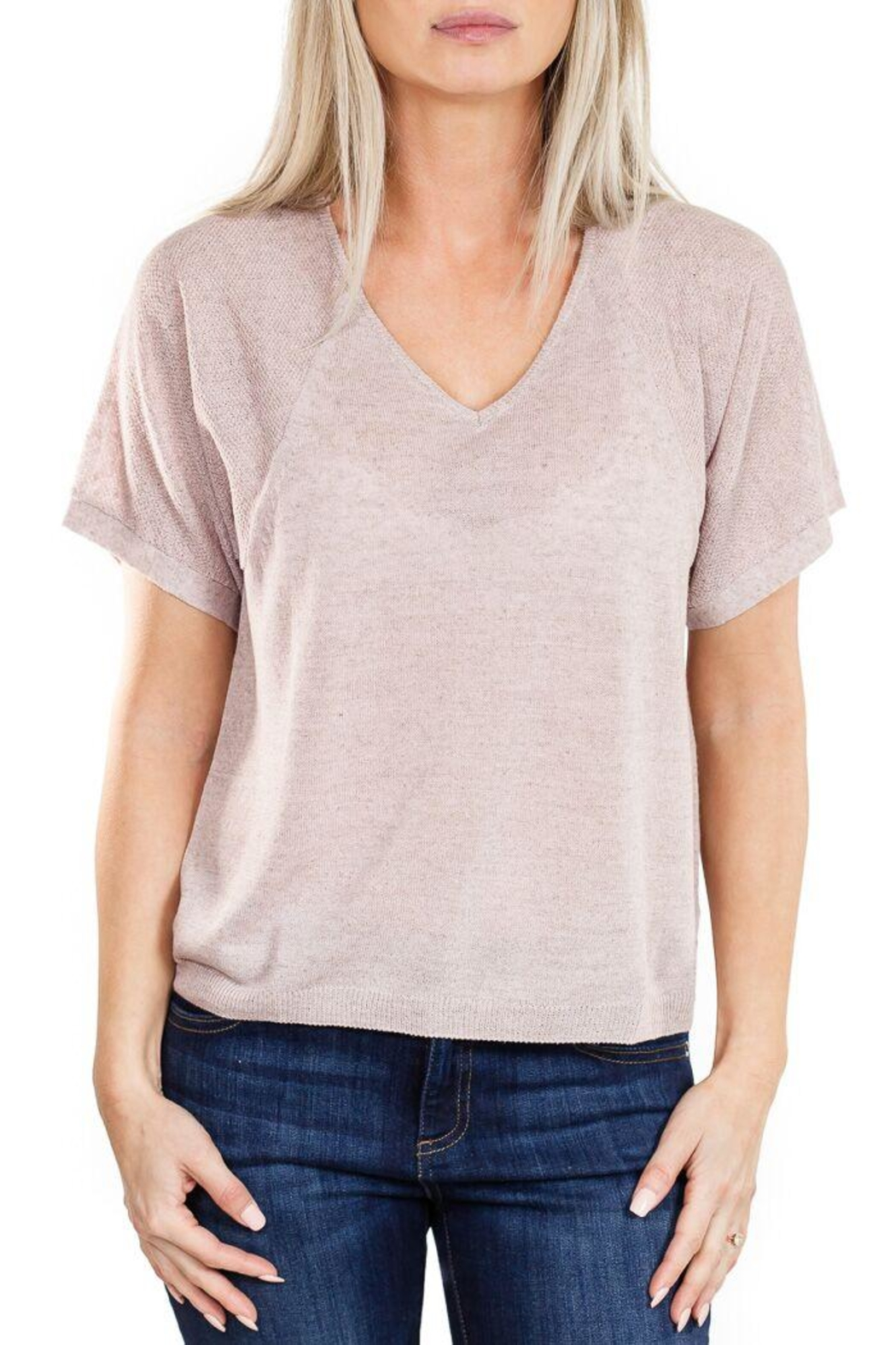 Fine Collection V Neck Sweater - Main Image