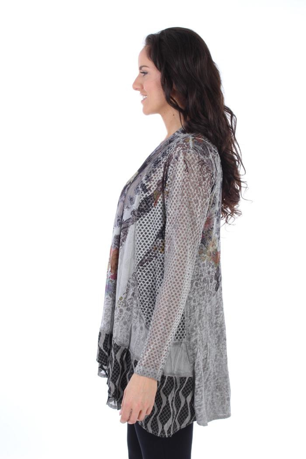 Fine Line Imports Chloe Printed Cover-Up - Front Full Image