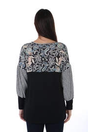 Fine Line Imports Mixed Print Top - Side cropped