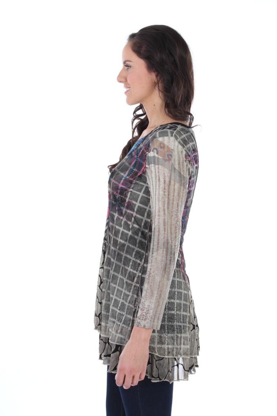 Fine Line Imports Nicole Tunic Top - Front Full Image