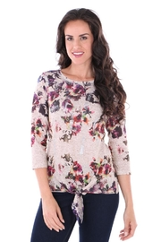 Fine Line Imports Vicky Tie-Front Top - Front cropped