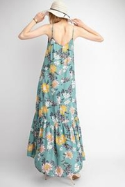 easel Blue Floral Maxi - Front full body