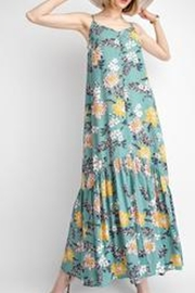 easel Blue Floral Maxi - Back cropped