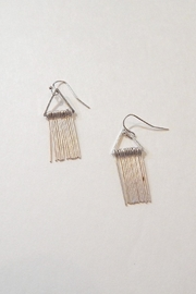 Fine N Funky Triangle Fringe Earrings - Product Mini Image