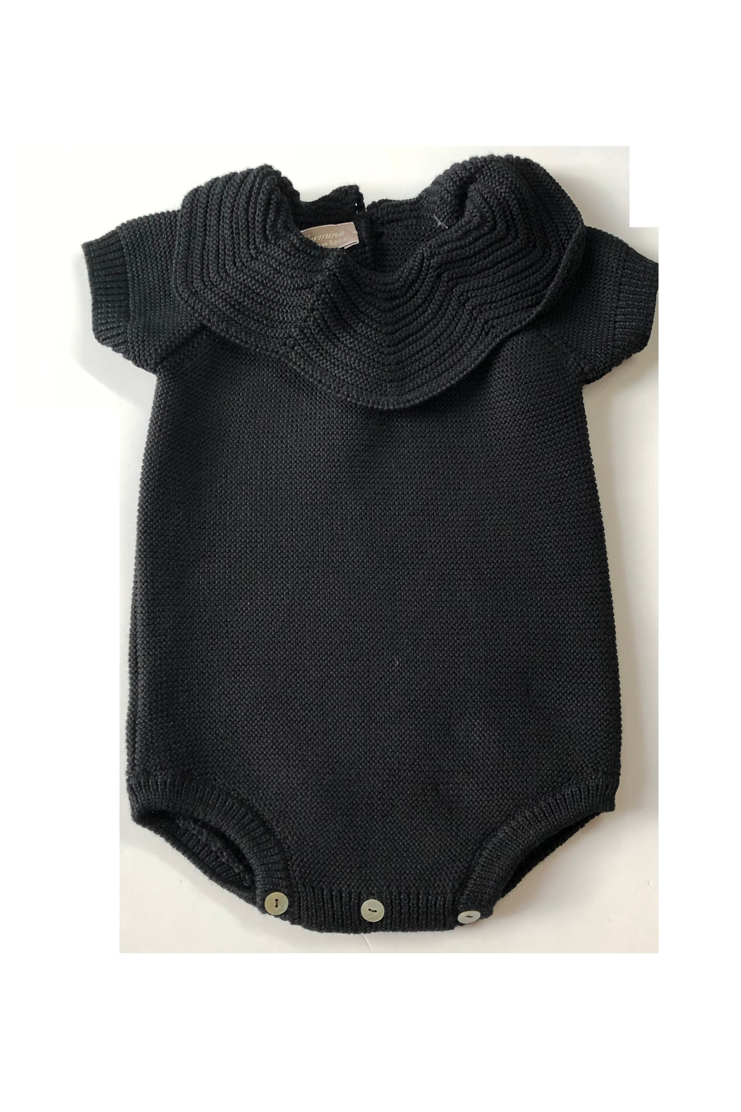 CARMINA FINEST KNIT BABY BUBBLE WITH KNIT COLLAR - Main Image