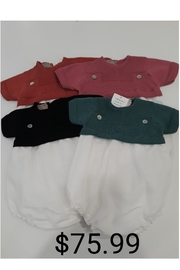 CARMINA FINEST KNIT BABY BUBBLE WITH KNIT COLLAR - Front cropped