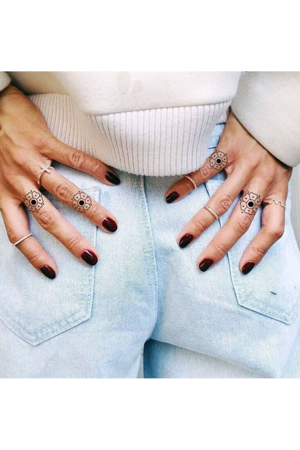 Inked by Dani Finger Temporary Tattoos - Front Full Image