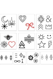 Inked by Dani Finger Temporary Tattoos - Back cropped