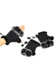 Adrienne Fingerless Fur Gloves - Product Mini Image