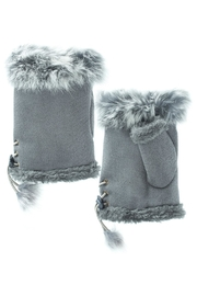 Adrienne Fingerless Fur Gloves - Front cropped