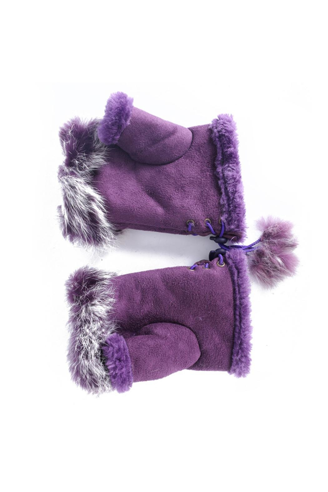 Adrienne Fingerless Fur Gloves - Front Cropped Image