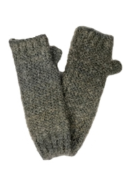 Adrienne Fingerless Marled Glove - Front cropped