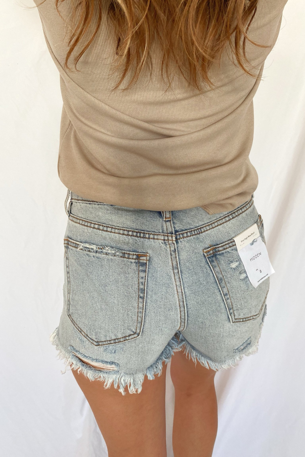 Hidden Jeans Finn High Rise Shorts - Side Cropped Image