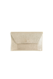 Shiraleah Fiona clutch gold - Front cropped