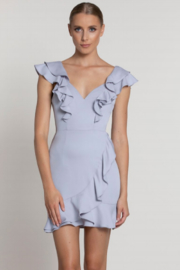 Lumier  Fiona Ruffled Cocktail Dress - Front cropped