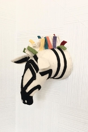 Fiona Walker England Zebra Animal Head - Front cropped