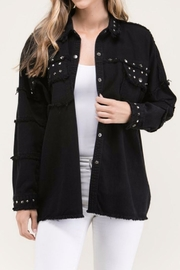 Fiore Black Stud Jacket - Front cropped