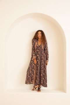 Natalie Martin Fiore Maxi Dress - Sweet Autumn Black - Product List Image