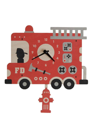 Modern Moose Fire Truck Pendulum Clock - Product Mini Image