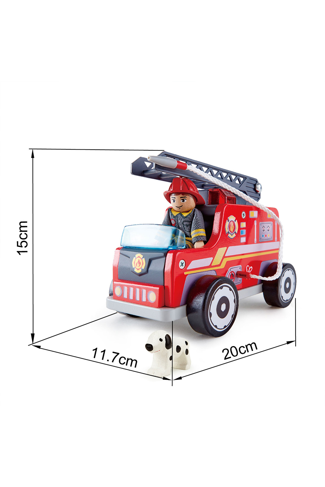 Hape  Fire Truck - Back Cropped Image