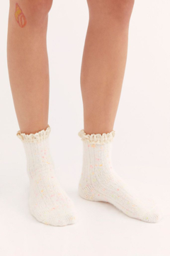 Free People Firecracker Flecked Ruffle Sock - Product List Image